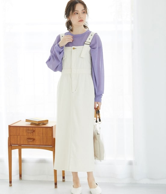 ビス   【早割】【Lee×ViS】デニムサロペットスカート - 17