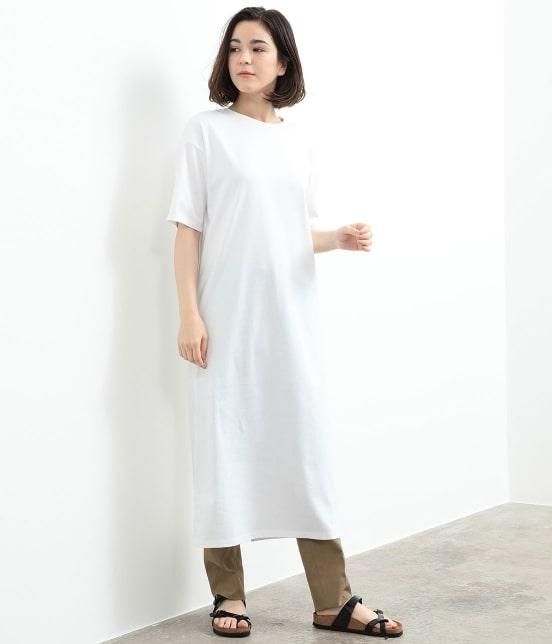 サロン アダム エ ロペ ウィメン | バックスリットロングT-DRESS - 1