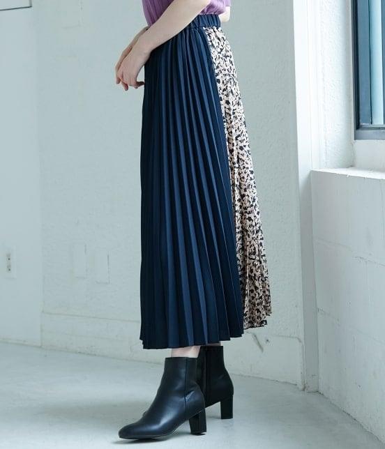ロペピクニック | 【TIME SALE】【WEB限定】フラワー切替プリーツスカート - 1
