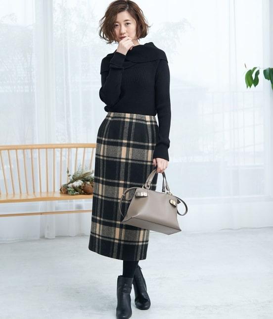 ロペピクニック   【新色追加】【WEB限定:着丈が選べる】ビッグチェックアイラインスカート - 13