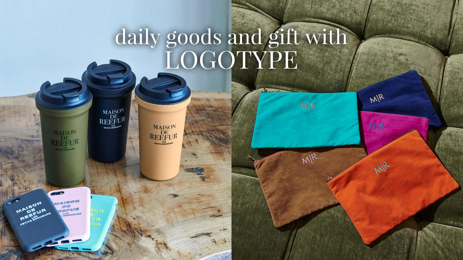 daily goods and gift with LOGOTYPE